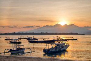 Sunrise dari Gili Trawangan