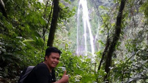 highest waterfall in Lombok