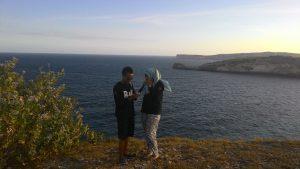 Tanjung Ringgit Lombok Timur di sore hari