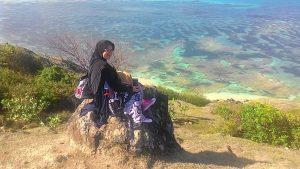 Teluk Tanjung Aan dari bukit Merese