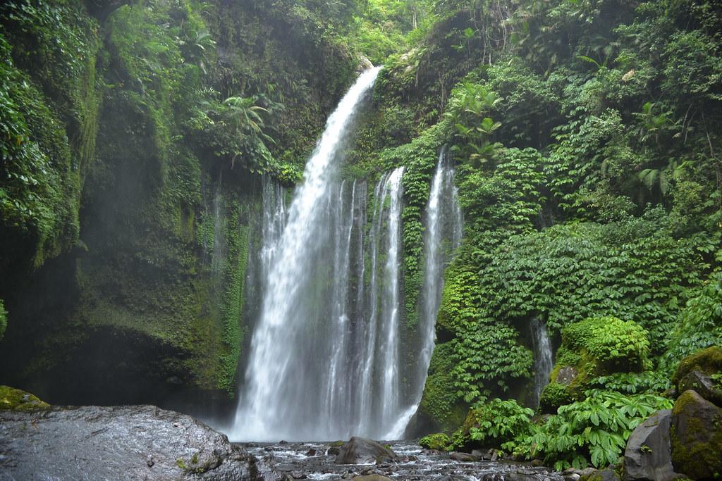 Beautiful waterfall in Lombok