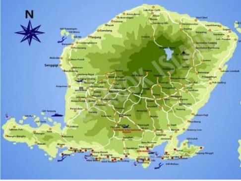 Topografi Pulau Lombok